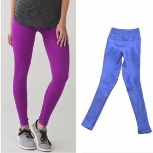 Lululemon Zone In Tight blue leggings 4